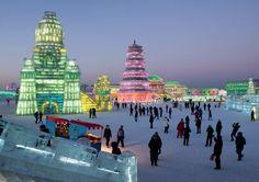travelandseetheworld:  Harbin Ice Festival   Heilongjiang, China (East Asia) [Via Pinterest]