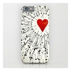 Heart&arrows iPhone & iPod Case ($35) ❤ liked on Polyvore featuring accessories, tech accessories, phone cases y iphone & ipod cases