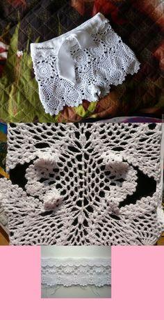 55 ideas for crochet skirt short Tops A Crochet, Crochet Pants, Black Crochet Dress, Crochet Skirts, Crochet Clothes, Crochet Lace, Bikinis Crochet, Crochet Bikini Top, Crochet Unicorn