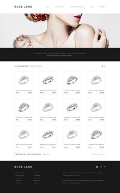 Rose Land Jewelry Interface by Joost Huver, via Behance