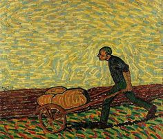 Man with cart, 1911 -Wilhelm Morgner(1891–1917).
