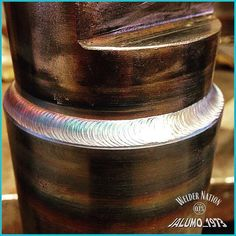 The brightness of this weld indicates really good gas coverage . This welder seems to know what he is doing! @jalumo_1973 #WelderNation #PointOnePercenter