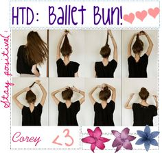 """""""HTD: Ballet Bun"""" by totally-tipsy-girls ❤ liked on Polyvore"""