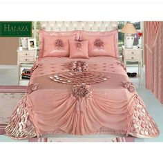 Stupendous cool tips shabby chic bedroom headboard shabby chic chairs colour schemes shabby chic frames window panes shabby chic sofa ideas shabby chic bedroom dream rooms – Artofit Elegant Comforter Sets, Queen Bedding Sets, Luxury Bedspreads, Luxury Bedding, Pink Bedding, Dream Bedroom, Queen Bedroom, Dream Rooms, Bed Cover Design