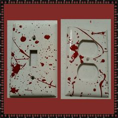 blood splatter light switch plate covers https://www.etsy.com/listing/204371296/1-set-of-2-electrical-plates-blood