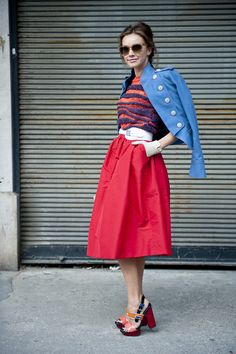topshop:  Red hot hit! A skirt that is a guaranteed of head turner.