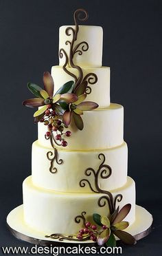 Fall Wedding Cakes | Fall theme wedding cake | Flickr - Photo Sharing!