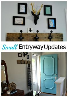 Easy, stylish and affordable updates to a very small entryway. chatfieldcourt.com