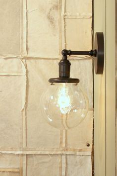 "Sconce Lighting with 6"" Clear Glass Shade"