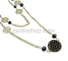 Kristall Zinklegierung Halskette, mit Kristall, goldfarben plattiert, Emaille, frei von Nickel, Blei & Kadmium