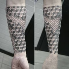 Black and gray, geometric half sleeve tattoo. Artist @janissvars  #geometric #tattoo #blackandgray #blackngray #graphic #halfsleeve #tattoofrequency #riga #tattooriga #tattooinriga #rigatattoo #getinked #ink #tattooart #art #share #like #follow