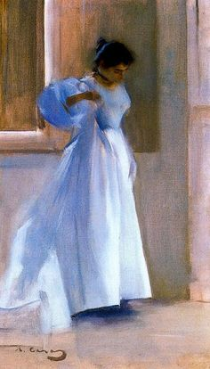 Interior with figure (Ramon Casas y Carbó - ) Spanish Painters, Spanish Artists, Ramones, Art Espagnole, Modernisme, Paintings I Love, Figure Painting, Oeuvre D'art, Art World
