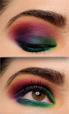 A Bold, Colorful Eye with Makeup Geek Power Pigments Makeup Geek Eyeshadow, Goth Makeup, Eyeshadow Primer, Dark Makeup, Eyeliner Ideas, Natural Makeup Tips, Makeup Designs, Permanent Makeup, Gorgeous Makeup