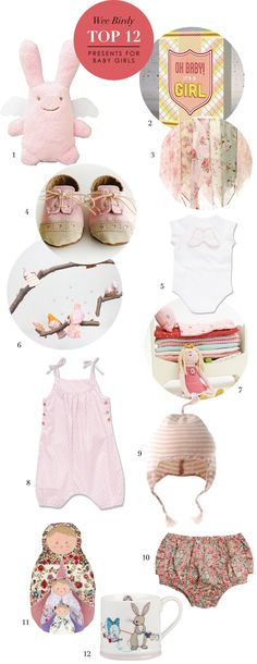 12 Best Presents for a Baby Girl via WeeBirdy.com