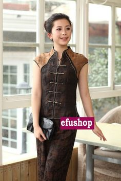 43305d756a4 Watered Gauze silk top and pants - Custom-made Cheongsam