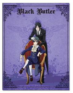 BLACK BUTLER CIEL & SEBASTIAN THROW BLANKET Black Butler Ciel & Sebastian Circus Throw Blanket. Features Black Butler's Ciel, the young master of the Phantomhive household, and his demonic butler Seba