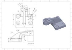 Solidworks, esercizio, pratica, disegno meccanico 3d Drawings, Autocad, Improve Yourself, Engineering, Metal, Art, Mechanical Design, Drawing Exercises, Drawing Techniques