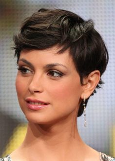 Morena Baccarin with her long, luxurious locks shorn into a perfect pixie cut. I miss Firefly.