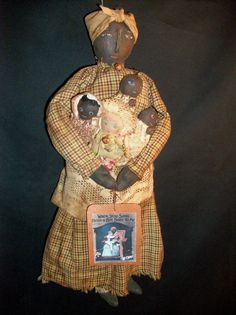 Primitive folk art doll 'PATTERN' for by Dumplinragamuffin on Etsy