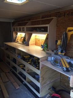 Tool Storage 768 x 1024 ( Tool Storage Cabinets, Garage Tool Storage, Van Storage, Workshop Storage, Garage Tools, Lumber Storage, Workshop Organization, Garage Art, Wood Storage