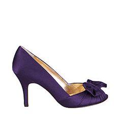 Chaussures de mariee violettes peep-toe                                                                                                                                                                                 Plus
