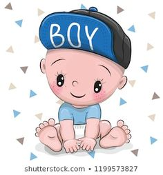 More Than 48 Cute Cartoon Baby Boy In A Cap Royalty Free Vector cute cartoon baby boy in a cap vector libre de derechos nettes karikatur-baby in einer kappe gebührenfreier vektor neonato sveglio del fumetto in un cappuccio royalty free vector Boy Cartoon Drawing, Cute Cartoon Girl, Boy Drawing, Baby Cartoon, Drawing Ideas, Cute Baby Boy, Baby Boys, Cute Babies, Baby Boy Art