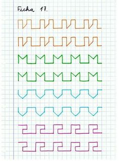 Graph Paper Drawings, Graph Paper Art, Improve Handwriting, Handwriting Practice, Writing Jobs, Pre Writing, Mazes For Kids, Art For Kids, Notebook Drawing