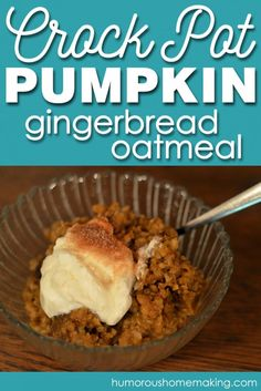 I love everything with pumpkin in it, so this crockpot pumpkin gingerbread oatmeal is perfect! It cooks overnight, so breakfast is ready when you wake up!