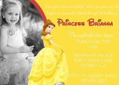 Image result for beauty and the beast invitations