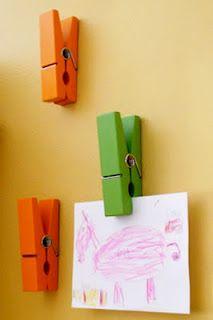 More creative ways to display children's artwork.