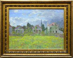 Oscar-Claude Monet (1840-1926) Maisons d'Argenteuil (1873) Alte Nationalgalerie Berlin