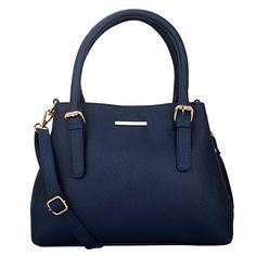 Lapis O Lupo Azzurro Women Handbag (Blue) - Pursehai Best Handbags, Black Handbags, Leather Handbags, Ladies Handbags, Mobile Pocket, How To Make Handbags, Blue Bags, Leather Material, Purses