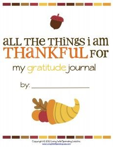 All The Things I'm Thankful For {Printable Gratitude Journal} - Living Well Spending Less™