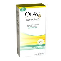Amazon.com: Olay Complete All Day Moisturizer With Sunscreen Broad Spectrum Spf15 - Sensitive 6.0 Fl Oz (Pack of 2): Beauty