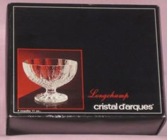 NEW-Set-of-4-Longchamp-Cristal-DArques-SUNDAE-DISH-in-The-Original-Box