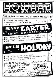 'Billie Holiday And Benny Carter & His Orchestra' - Fantastic Glossy Print Taken From A Vintage Ad Poster Billie Holiday, Jazz Festival, Popular Music, Concert Posters, Kinds Of Music, Vintage Ads, Orchestra, Dreaming Of You, How To Plan