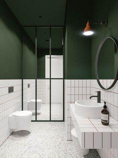 Small Bathroom Colors, Bathroom Design Small, Bathroom Interior Design, White Bathroom, Modern Bathroom, Bathroom Green, Bath Design, Master Bathroom, Kitchen Interior
