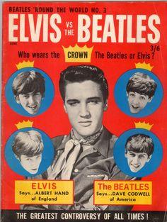 Beatles 'Round The World No.3 Elvis vs. The Beatles - Starting Bid: $125.00 (Outbid)
