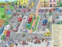 Stiefel könyöklő, Kerékpáros tízparancsolat / Kisokos a bizt.kerékpározáshoz A3 alátét duo Map, Pyrex, Boots, Location Map, Maps