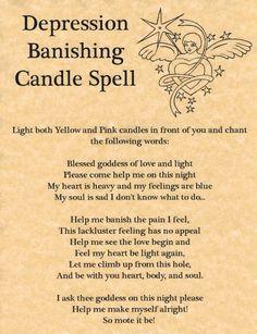 Depression Banishing Candle Spell