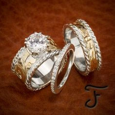 Browse a full inventory of western jewelry online. Discover handmade artisan jewelry, western rings, and one-of-a-kind items. Western Wedding Rings, Western Rings, Western Jewelry, Texas Jewelry, Verragio Engagement Rings, Vintage Gold Engagement Rings, Verragio Rings, Wedding Sets, Wedding Bands