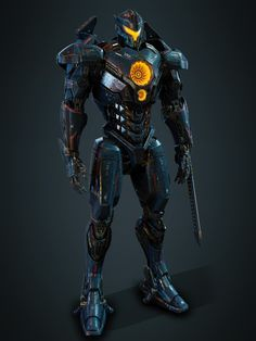 Had a great time working on Pacific Rim VR experience for Pure Imagination Studios. With this project Universal provided us with Concept art and WIP VFX model for Gipsy, my task was to make the same thing for the VR game. Pacific Rim Kaiju, Pacific Rim Jaeger, Robot Concept Art, Armor Concept, Gipsy Danger, Cyberpunk, John Rambo, Big Robots, Futuristic Armour