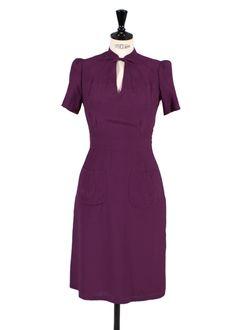 Berlin ~  1940's Viscose Purple Dress (Almost? Agent Carter's dress!)