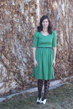 styled by vivian // penelope peplum dress