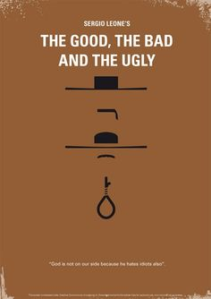 Des affiches ciné relookées - The Good, The Bad And The Ugly