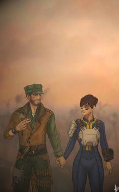 MacCready and sole Maccready Fallout, Vault Tec, Fall Out 4, You're Beautiful, Elder Scrolls, Paladin, Skyrim, Nerdy, Pop Culture