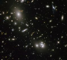 Hubble Wide Field Camera 3:   Distant galaxies and galaxy clusters.  Image: NASA & ESA. Acknowledgement: N. Rose
