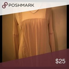 Peasant blouse. Cream colored peasant blouse. Loose fit. Great condition, never worn. Charlotte Russe Tops Blouses