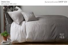 Bed Linen ombré grey from Next