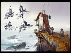 Location design Old Man's Journey, Lip Comarella on ArtStation at https://www.artstation.com/artwork/xyGNX